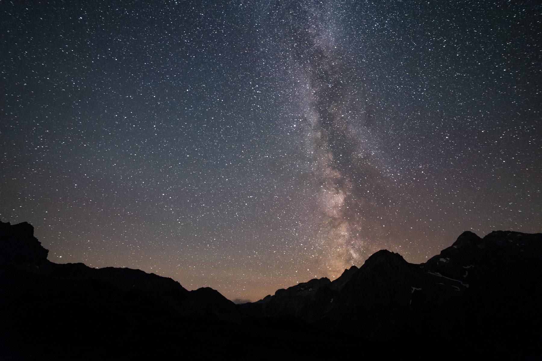 Voie Lactée depuis le lac des Cerces, Valloire Galibier