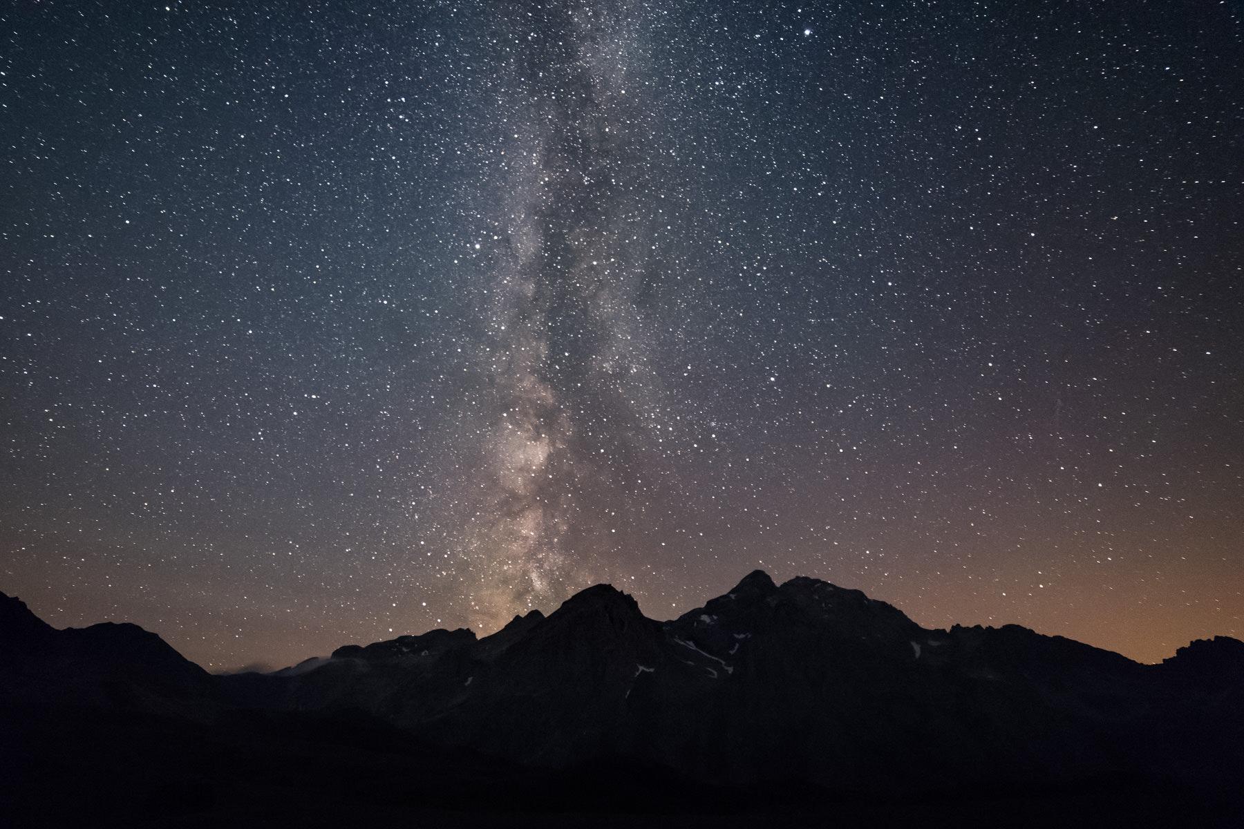 Bivouac et Voie Lactée depuis le lac des Cerces