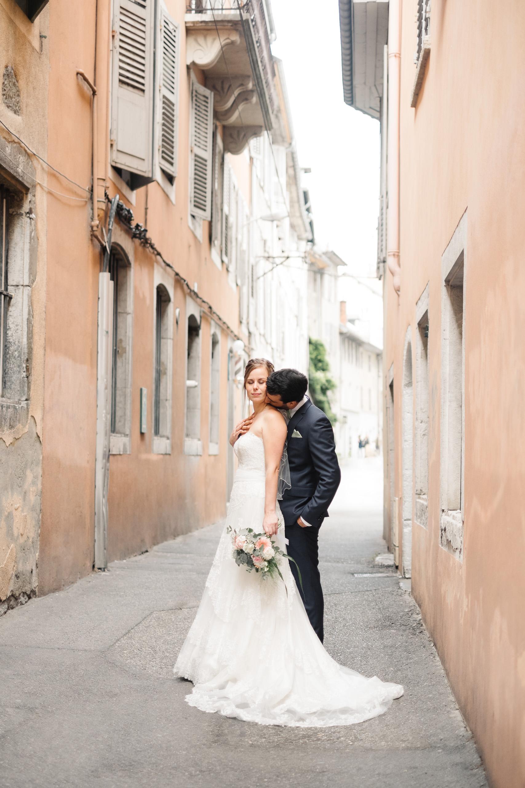 Mariage à Chambéry centre ville - Séance photos de couple - Lucile & Florent