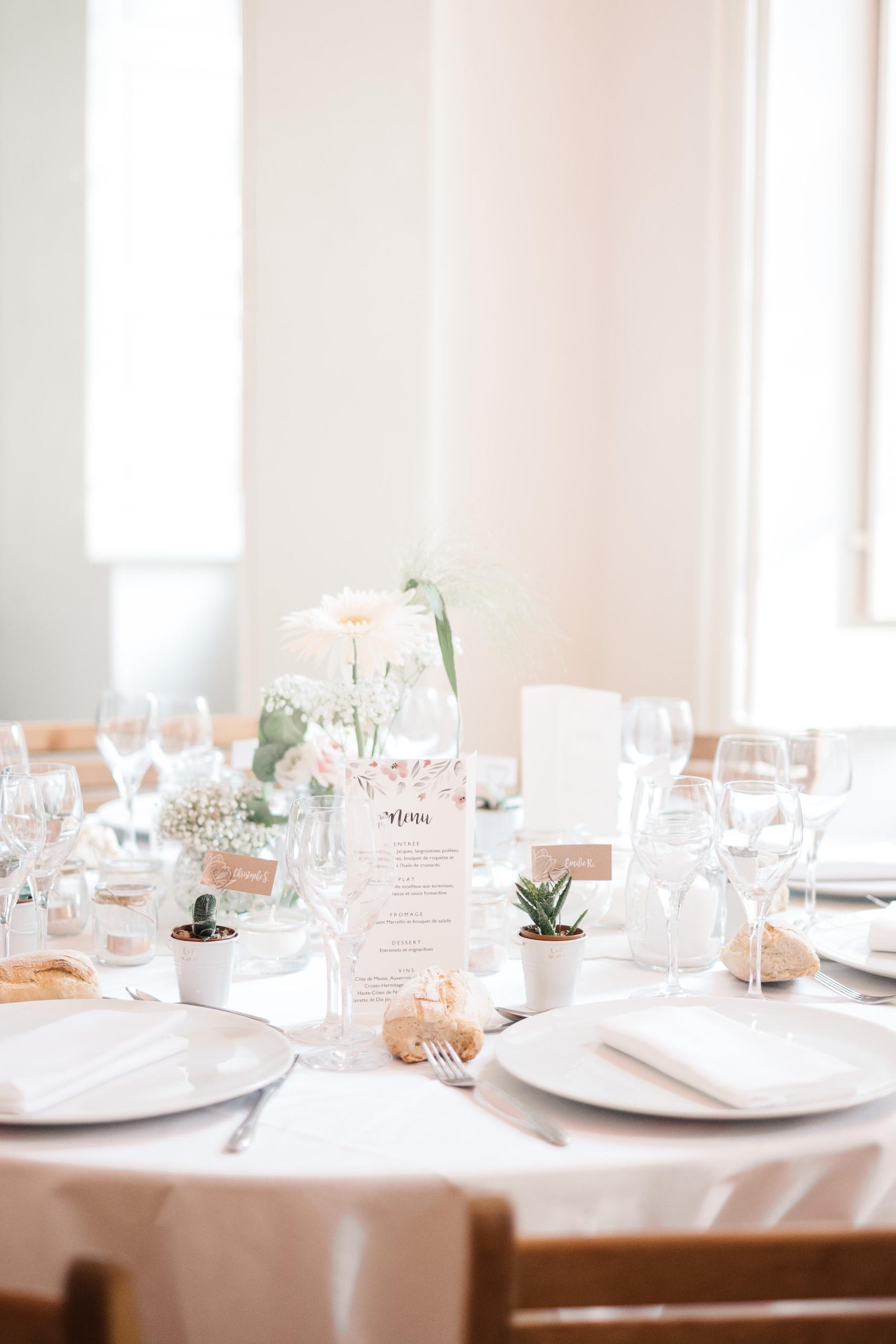 Mariage à Chambéry - Décoration de salle - Lucile & Florent