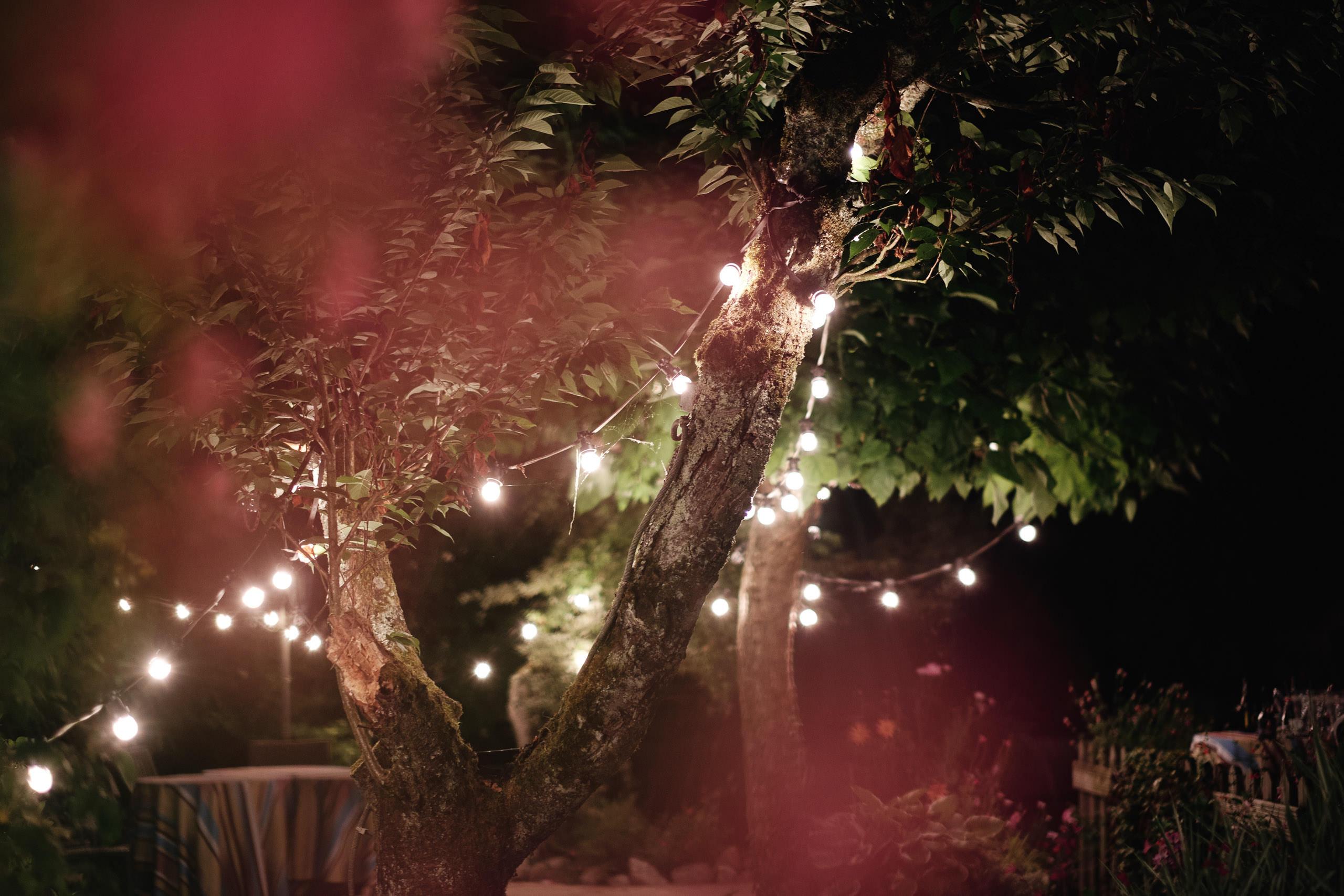 Jardin de La Grange à Jules de nuit