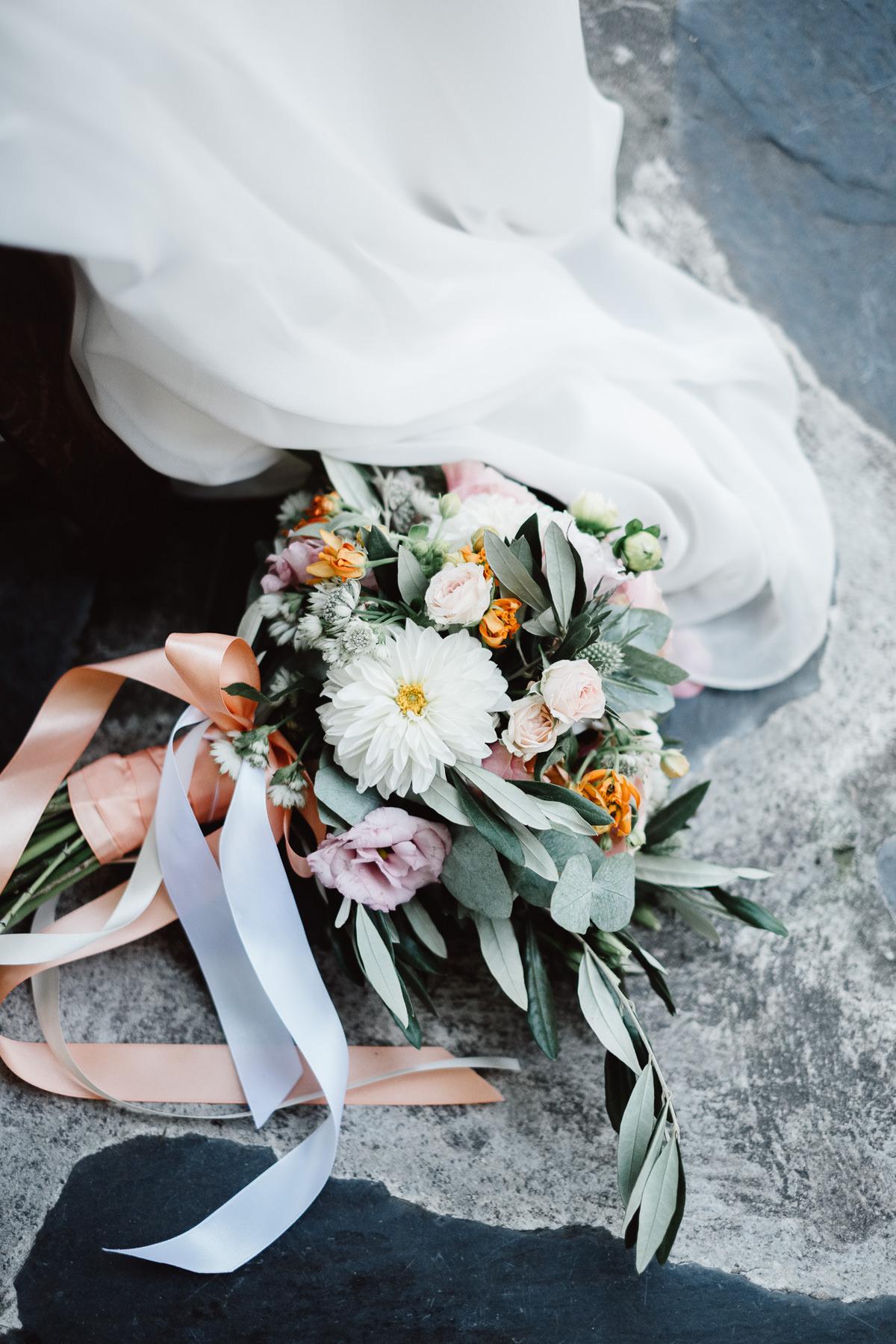 Bouquet de fleurs mariée Chambéry bohème chic