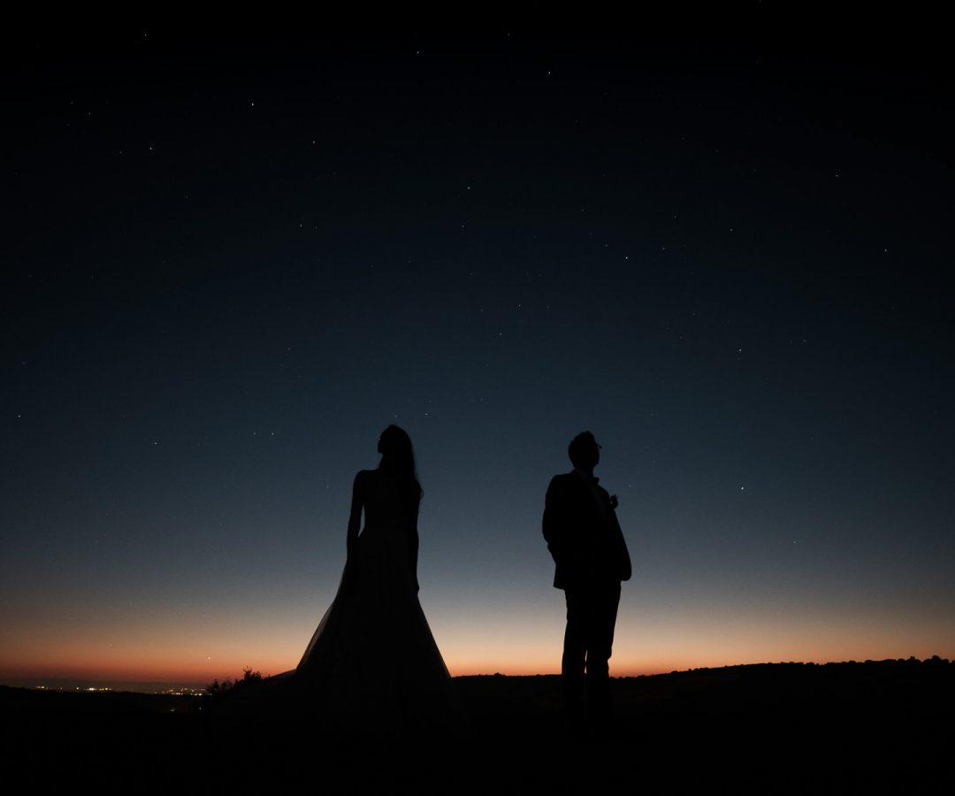 Photographe mariage ciel nuit étoilée