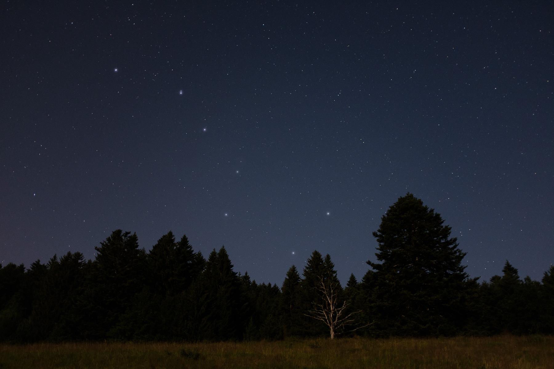 Les sept étoiles de la Grande Casserole (astérisme faisant partie de la Constellation de la Grande Ourse)